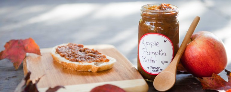 Pumpkin Apple Butter on a slice of bread