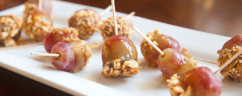 caramel grapes on a stick