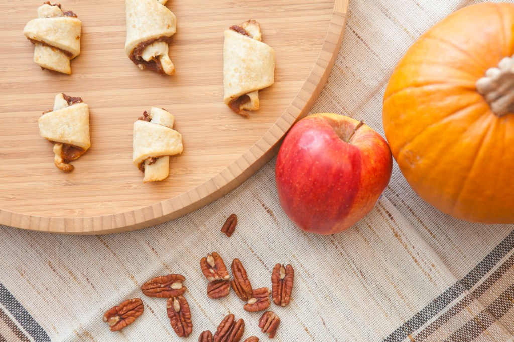 Thanksgiving Hanukah Pecan Pumpkin rugelach