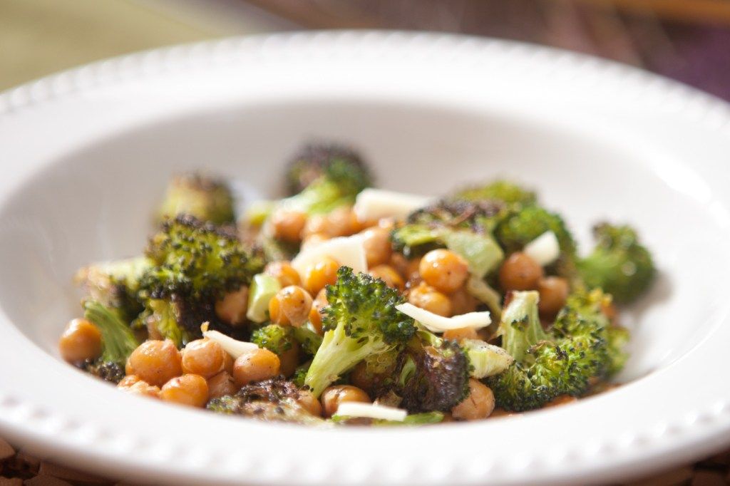 Broccoli Chick Pea Roast
