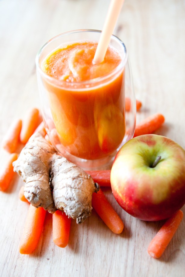 carrot ginger apple whole juice toppick