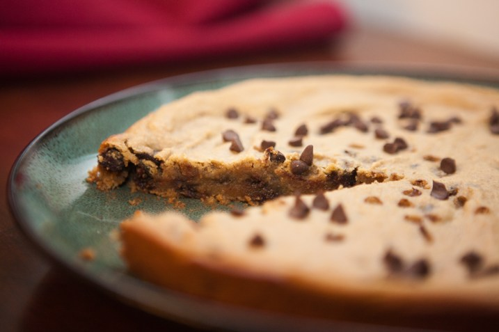Cake Sized healthy Chocolate Chip Cookie