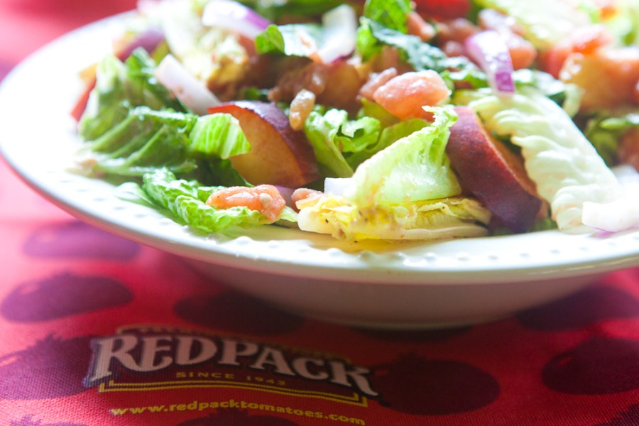 RedPack Tomato Peach Chipotle Salad - teacher-chef-5205
