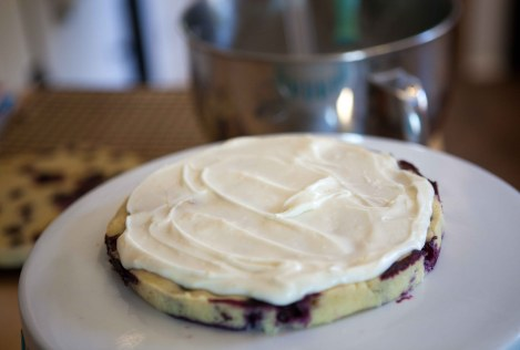 fresh lemon blueberry layer cake in process |via teacher-chef 4632