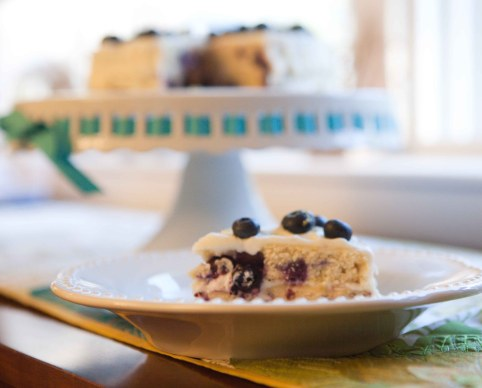 fresh lemon blueberry layer cake | via teacher-chef 4664