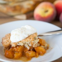 Breakfast Peach Cobbler