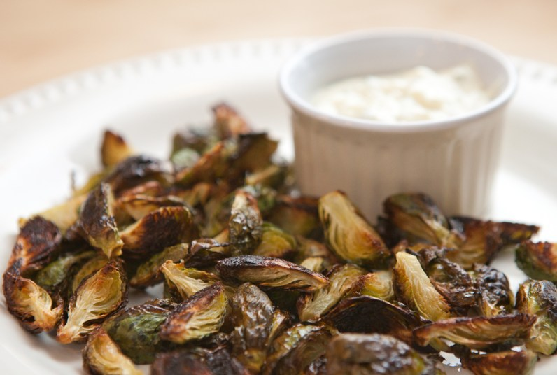 roasted brussels sprouts via teacher-chef.com