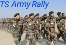 Telangana Army Recruitment Rally 2018 at Secunderabad, Apply before 22-1-2018