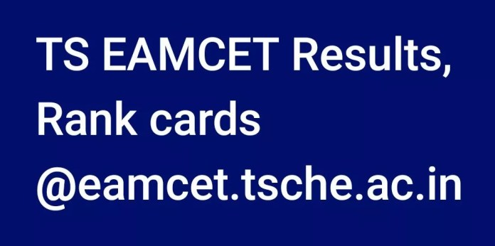 TS EAMCET Results Rank cards @eamcet.tsche.ac.in