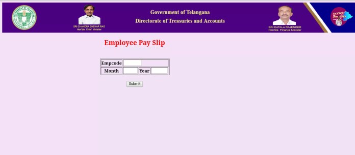Telangana Treasury-TS Employees Know Your Salary-Particulars-treasury.telangana.gov.in