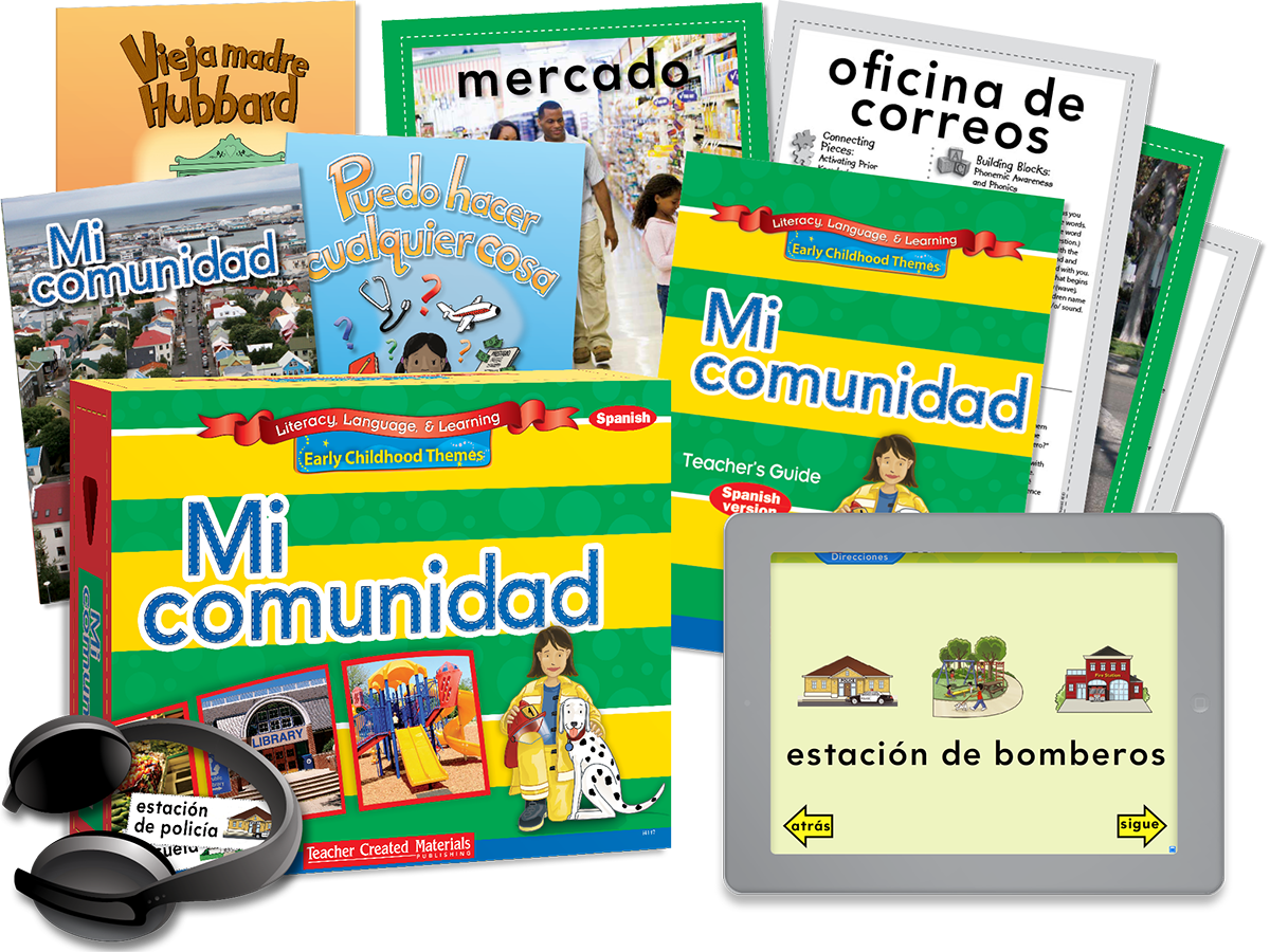 Early Childhood Themes Mi Comunidad My Community Kit