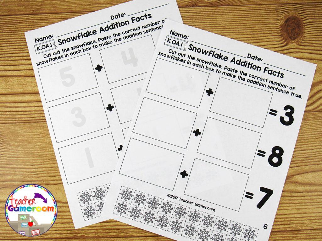 Kindergarten Winter Math Packet 13