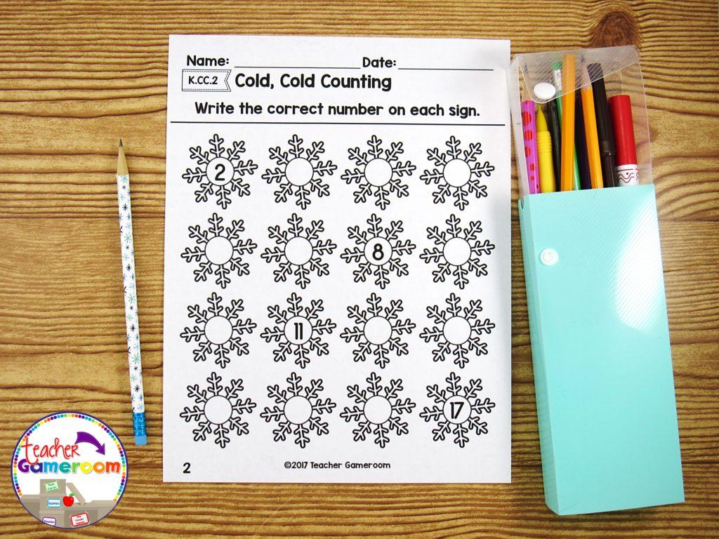 Kindergarten Winter Math Packet 4