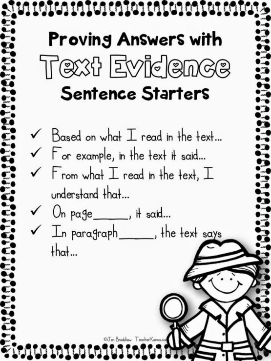 Image result for text evidence sentence starters