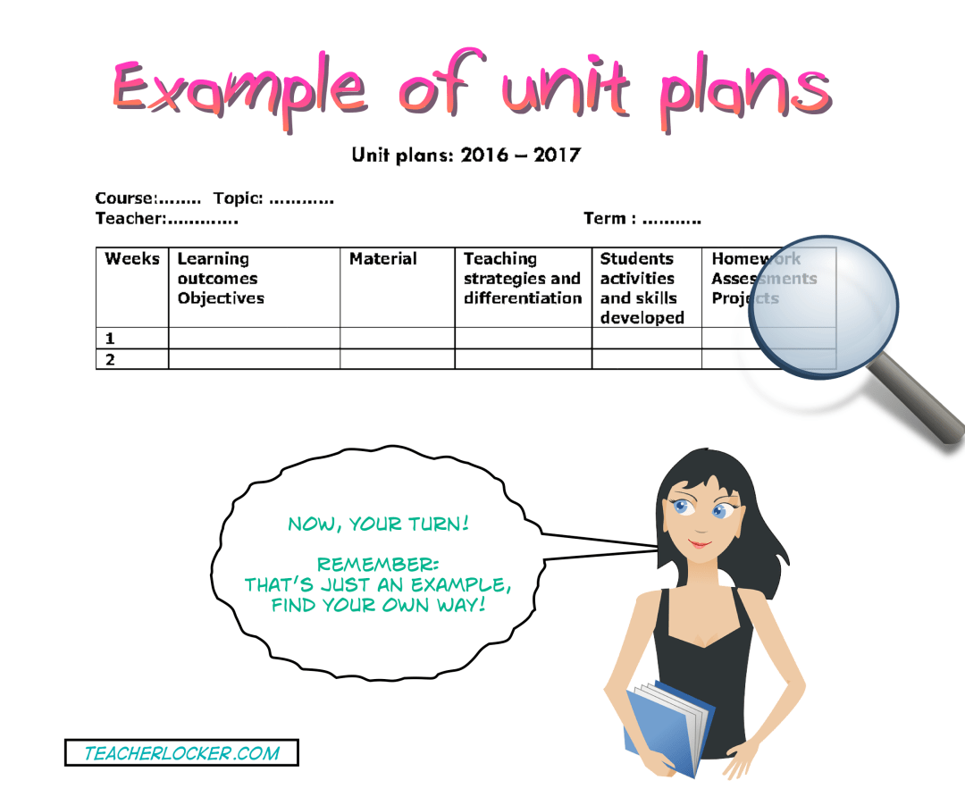 example of unit plans