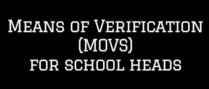 MOVs for School Heads