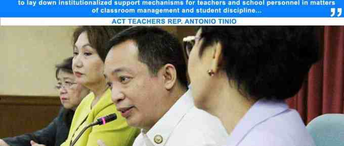Student Discipline and Teacher Protection Act (House Bill No. 5735)