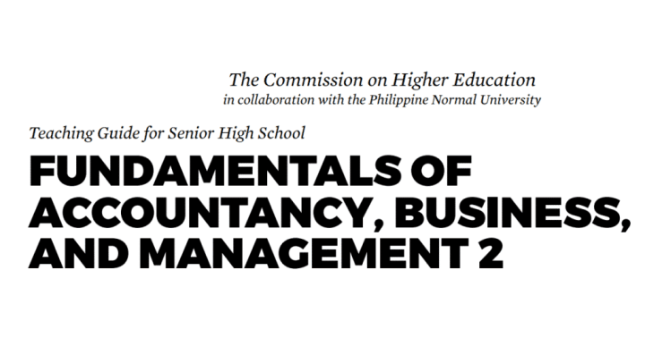 Fundamentals of ABM 2 Senior High School SHS Teaching Guide