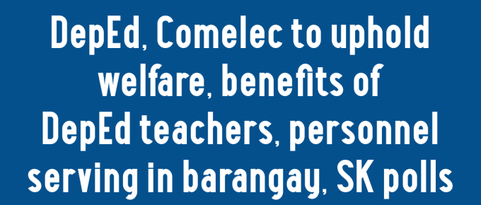 DepEd Teachers Barangay and SK Elections