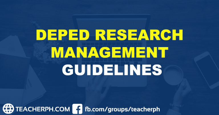 DEPED RESEARCH MANAGEMENT GUIDELINES