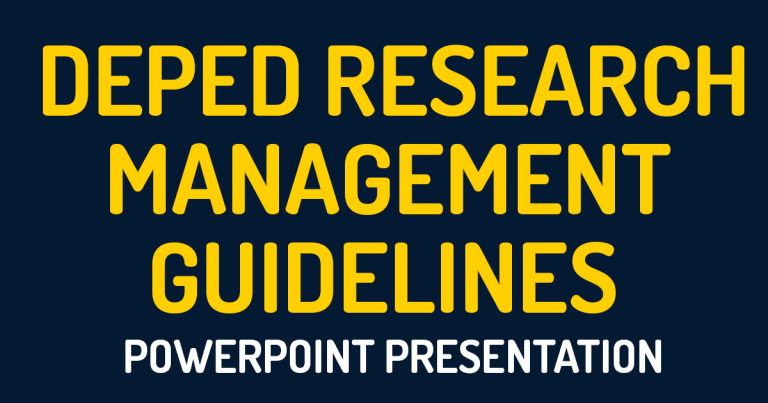 2020 DepEd Research Management Guidelines Powerpoint Presentation