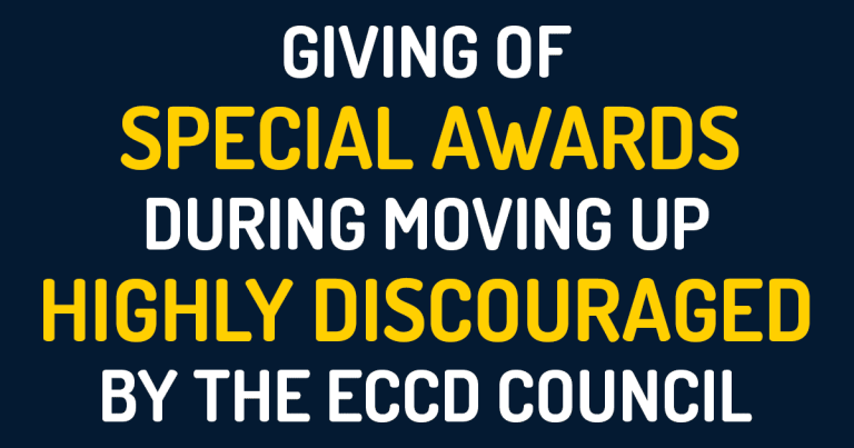 Giving of Special Awards During Moving up Highly Discouraged by the ECCD Council