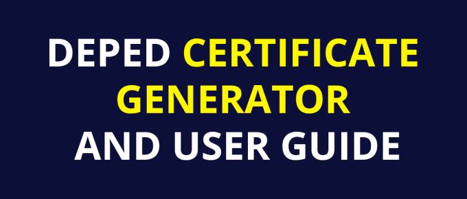DEPED CERTIFICATE GENERATOR AND USER GUIDE