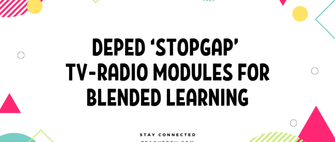 DEPED 'STOPGAP' TV-RADIO MODULES FOR BLENDED LEARNING