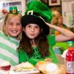 Students celebrating St. Patrick's Day