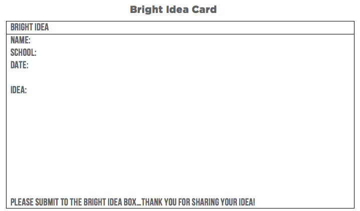bright ideas card