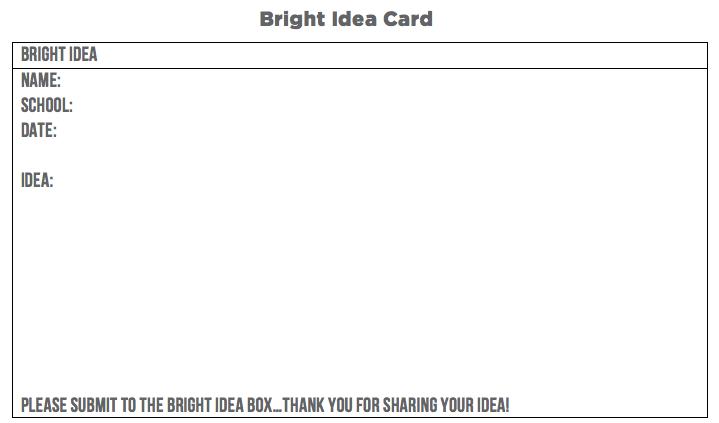 bright ideas card