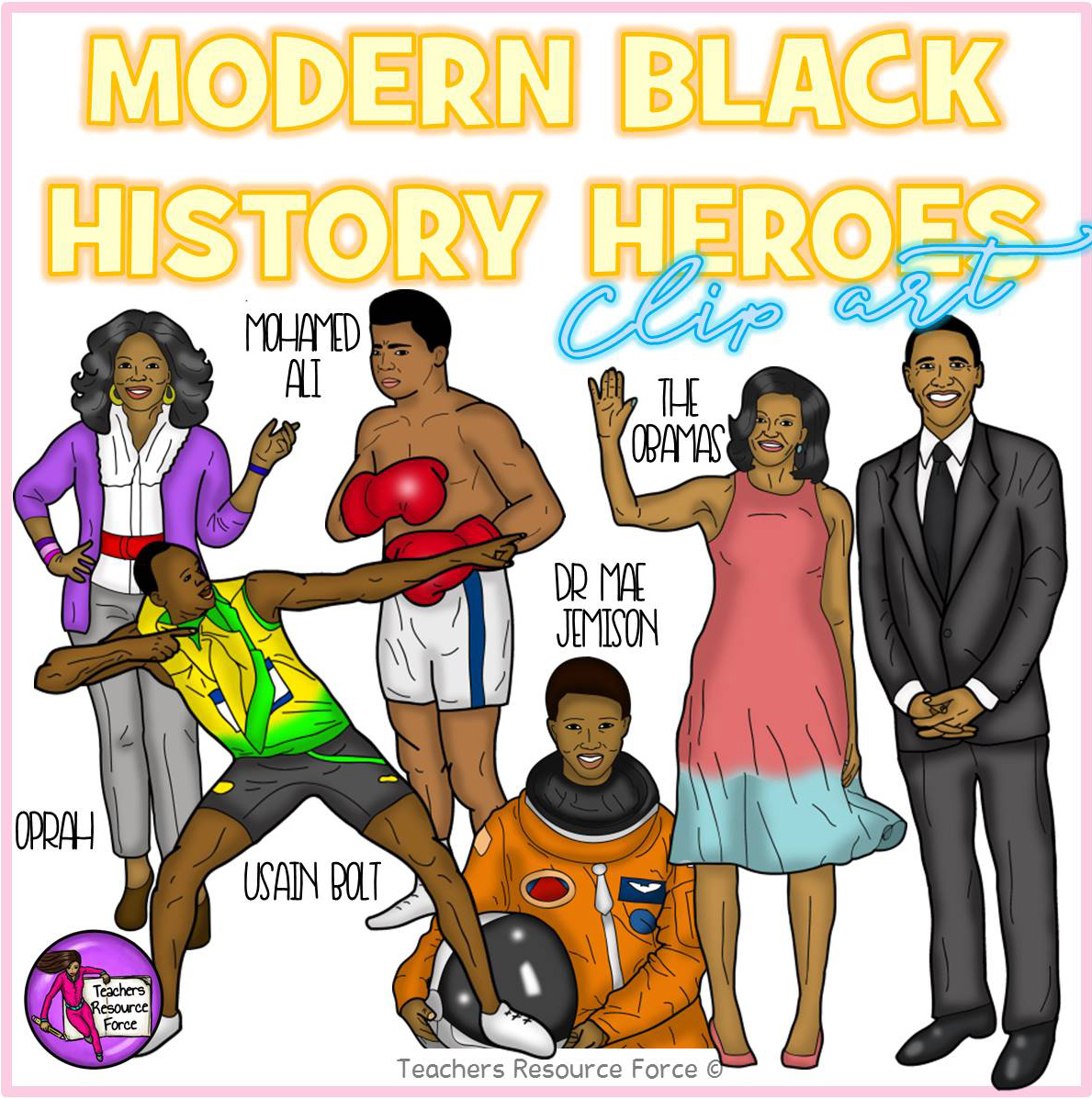 Current Famous Black History Makers Clip Art