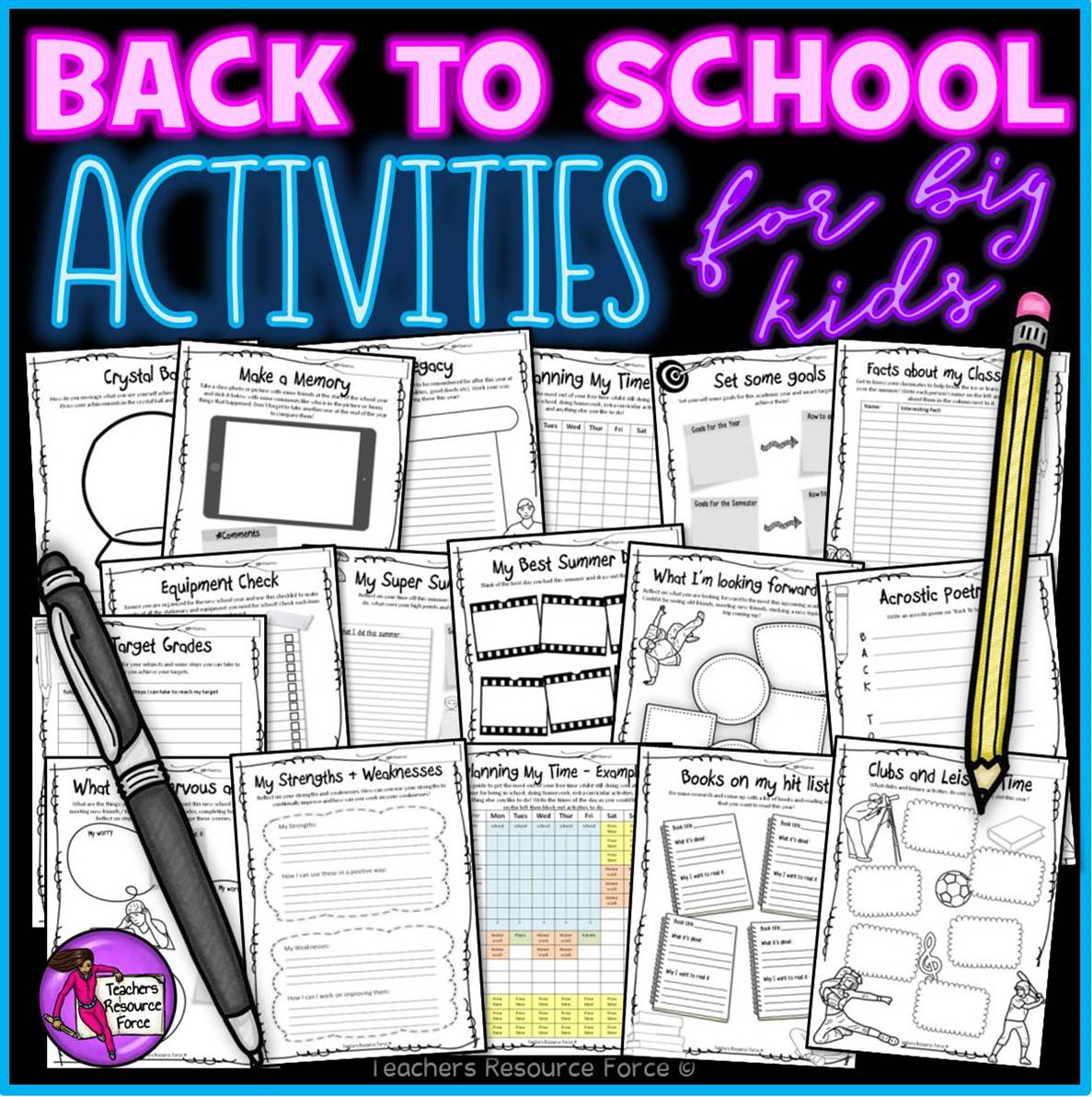 Back To School Get To Know Me Activities For Teens