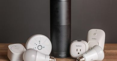Picture of Amazon Echo plus and compatible hardware.
