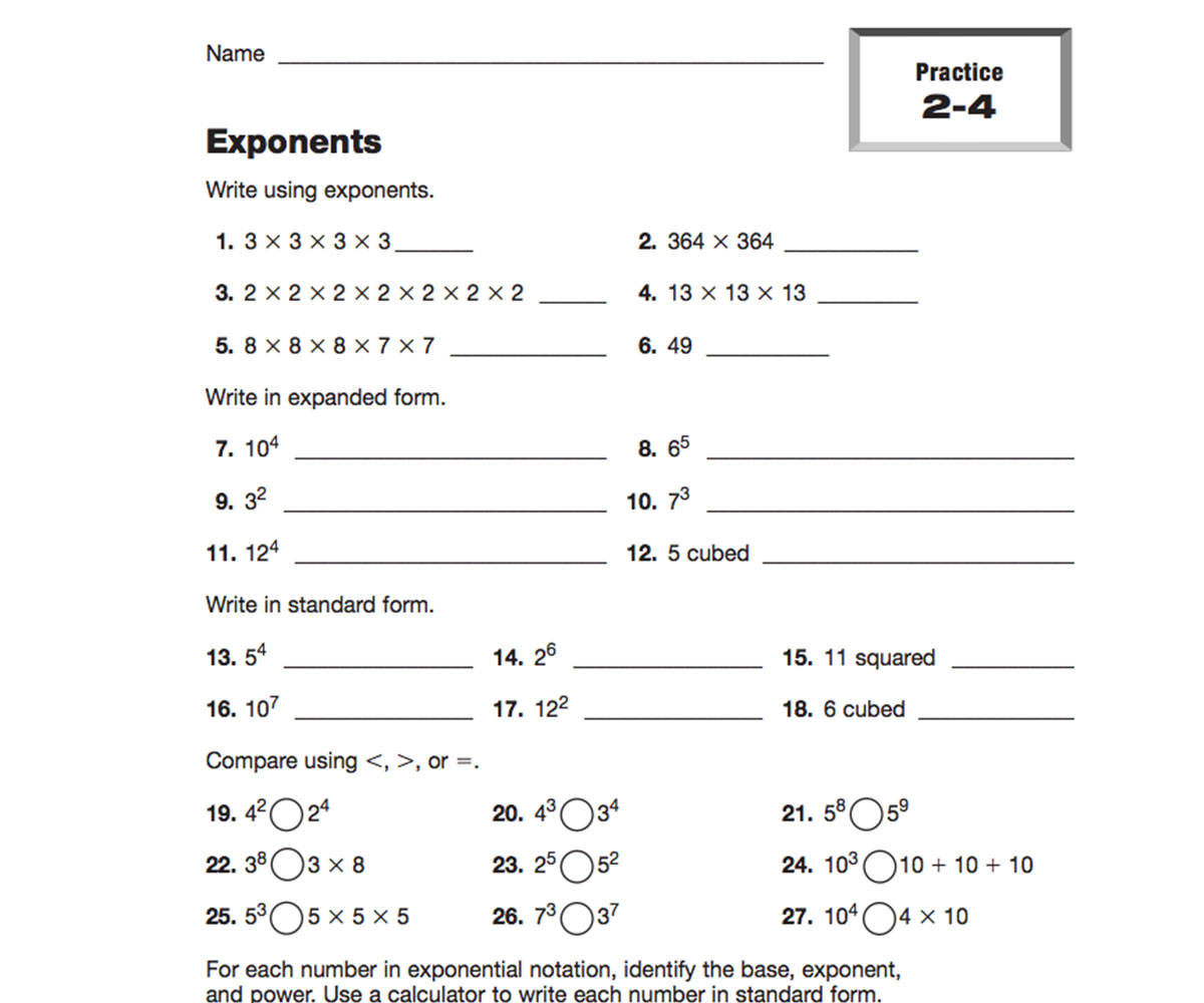 6 Grade Worksheets Free Printable