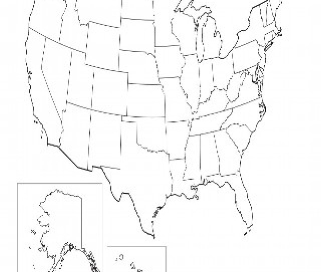 Blank Us Map No States In Usa Outline Printable S Royalty Blank Jpg - Blank-us-map-for-labeling