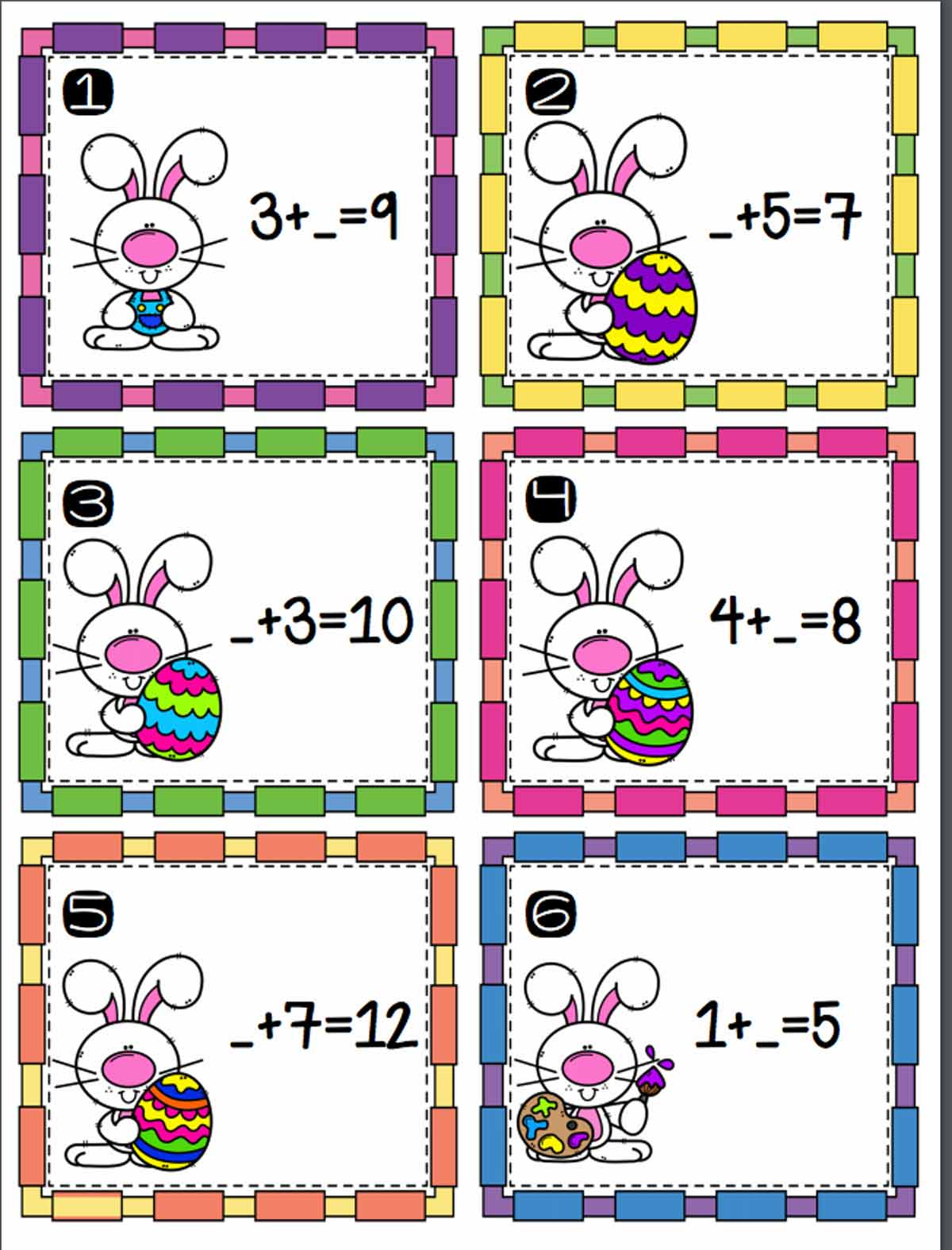 Easter Addition Scoot Activity