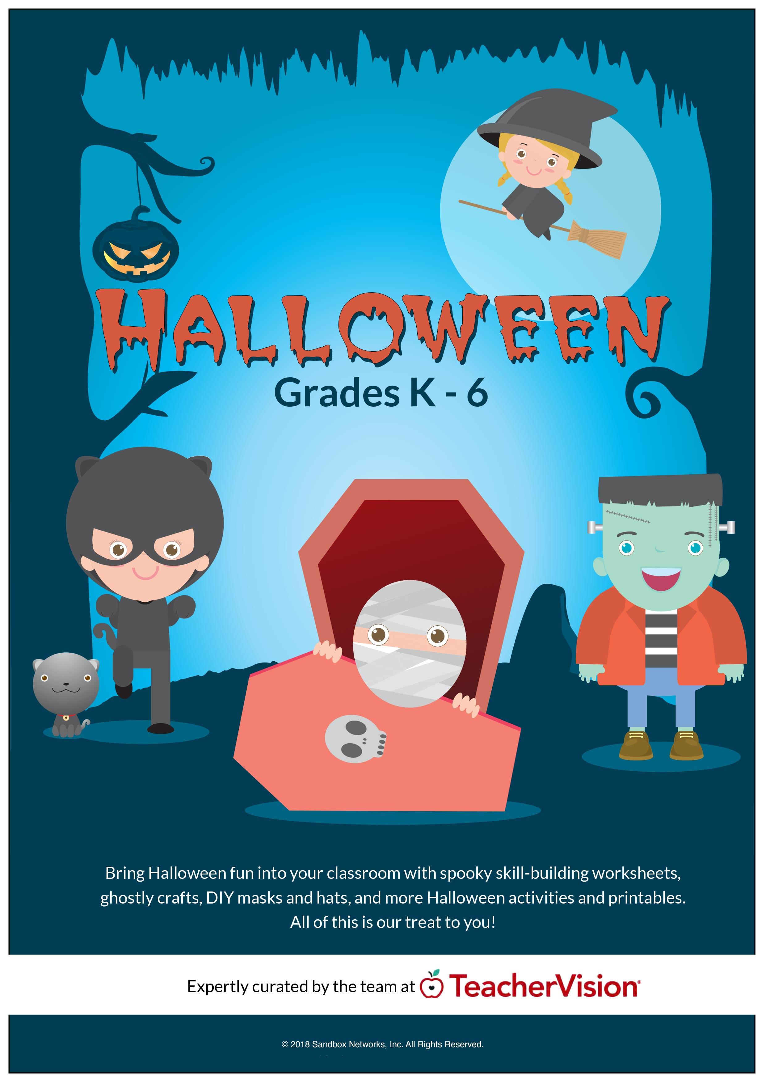 Halloween Activities Packet Grades K 6