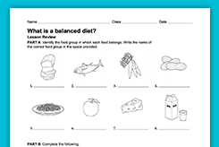 Health Amp Nutrition Lesson Plans Worksheets Amp Activities