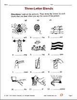 3 Letter Blends Printable 2nd Grade