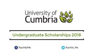 Undergraduate Scholarships at University of Cumbria in UK