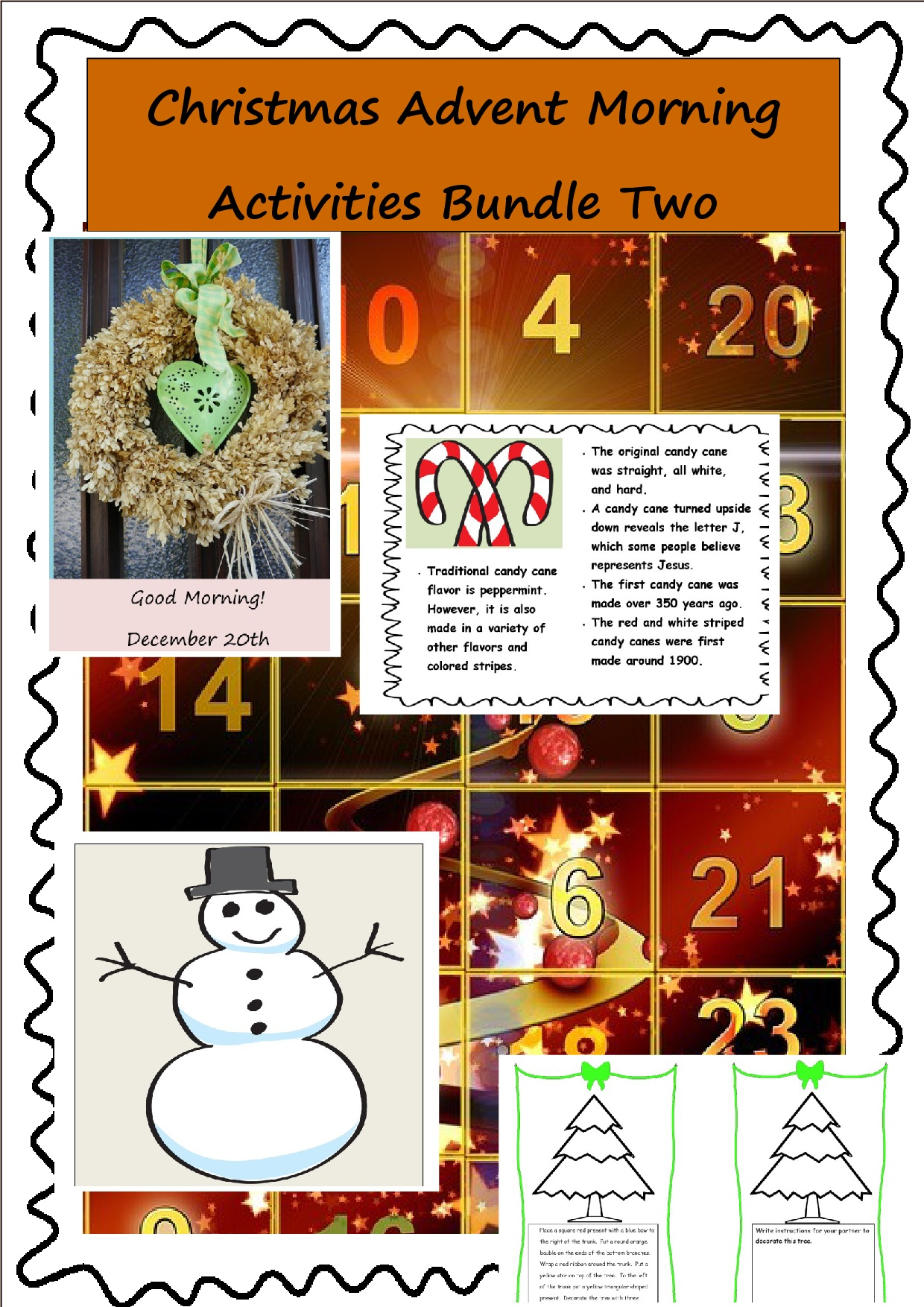 Christmas Themed Worksheet Pack Usa Spelling Version