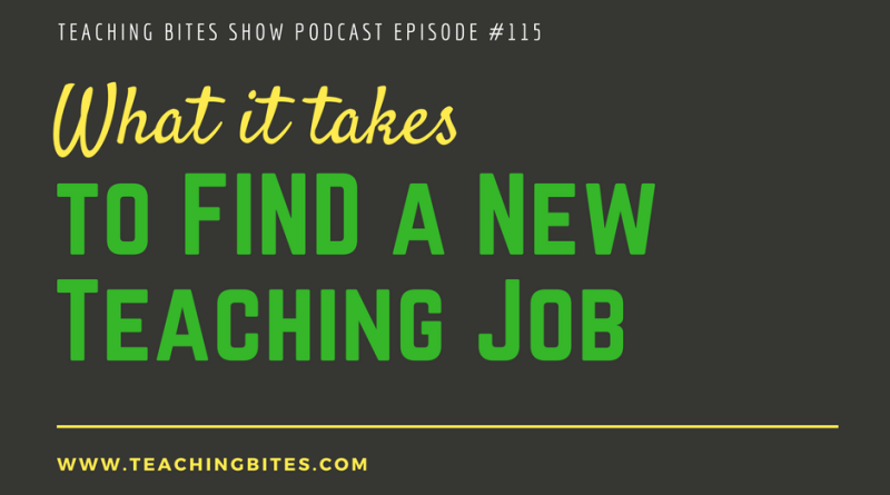 What It Takes To Find A New Teaching Job
