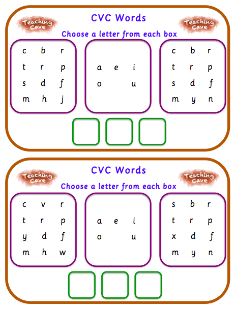 Cvc Word Worksheets For Reception And Year 1