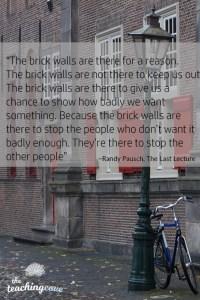 motivational mondays brick walls