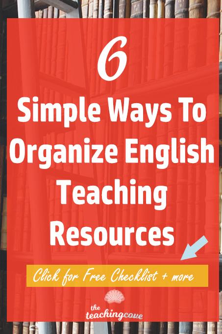 6 Simple Ways to Organize Teaching Resources