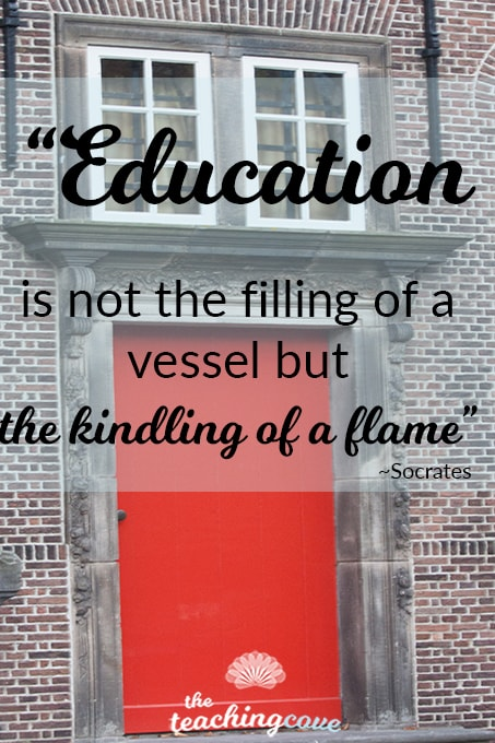 Motivational Monday - Education is Kindling a Flame
