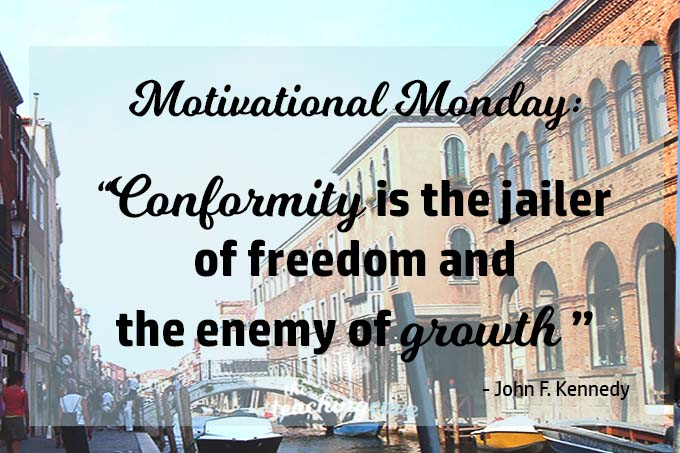 Motivational Monday 42 - Conformity Is The Enemy of Growth featured