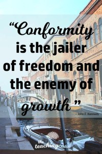 Motivational Monday 42 - Conformity Is The Enemy of Growth