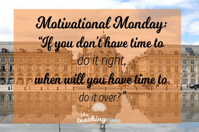 Motivational Monday 59 Efficiency featured
